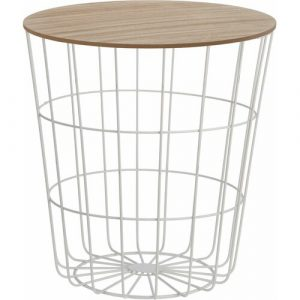 Fontaine Side Table with Storage Norden Home Colour: White