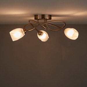 Forbes Chrome effect 3 Lamp Ceiling light