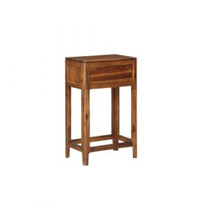 Furse Side Table with Storage Brambly Cottage Colour: Acacia