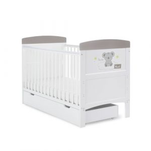 Grace Inspire Cot Bed & Underdrawer Hello World Koala Obaby