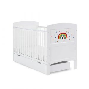 Grace Inspire Cot Bed & Underdrawer Rainbow - Multicolour Obaby