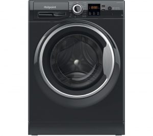 HOTPOINT Coreu0026tradeNSWR 843C BS UK N 8 kg 1400 Spin Washing Machine - Black, Black