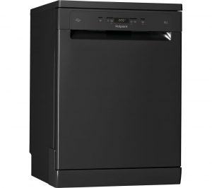 HOTPOINT HFC 3C26 WC B UK Full-size Dishwasher - Black, Black