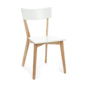 Hiroko Solid Wood Dining Chair Mikado Living Finish: Matt White / Oak