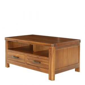 Julianna Coffee Table with Storage Foundstone Colour: Dark Brown