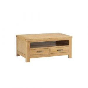 Julianna Coffee Table with Storage Foundstone Colour: Washed Oak