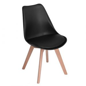 Kaitlin Upholstered Dining Chair Isabelline Upholstery Colour: Black