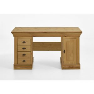 Kelly Executive Desk August Grove Tabletop/Frame colour: Stained and oiled brown/Brown