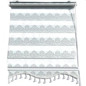 Klemmfix Duorollo Privacy Protection Semi-Sheer Roller Blind Marlow Home Co. Size: 200 cm L x 160 cm W