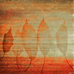 Leaves 2 Graphic Art Wrapped on Canvas East Urban Home Size: 122cm H x 122cm W x 5cm D