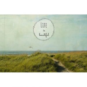 Life Is Beautiful 2 Text by Robin Delean - Wrapped Canvas Graphic Art Print Highland Dunes