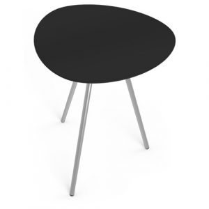 Luca Dining Table Isabelline Colour: Stainless steel/Black