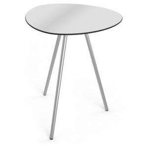 Luca Dining Table Isabelline Colour: Stainless steel/Grey