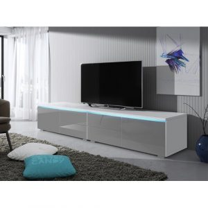 """Luv Double TV Stand for TVs up to 88"""" Selsey Living Finish: White Matte / Grey Gloss"""