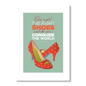 Marilyn Shoes 3 by Liz Lyons Graphic Art Wrapped on Canvas Americanflat