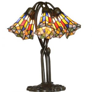 Mayflower Stained Glass 50cm Table Lamp Ophelia & Co.