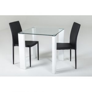 Mentone Dining Set with 2 Chairs Ivy Bronx