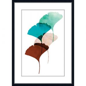 Mod Leaves - Picture Frame Graphic Art Print on Acrylic East Urban Home