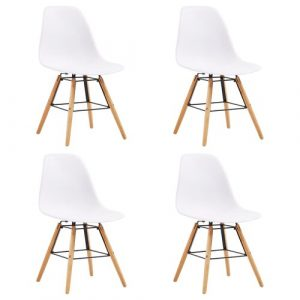 Norden Home Dining Chairs 4 Pcs Yellow Plastic Norden Home Colour: White