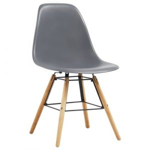 Norden Home Dining Chairs 6 Pcs Blue Plastic Norden Home Colour: Grey