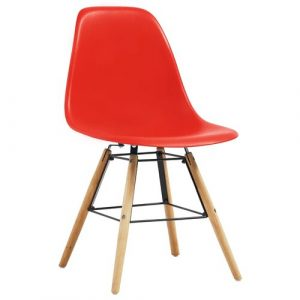 Norden Home Dining Chairs 6 Pcs Blue Plastic Norden Home Colour: Red