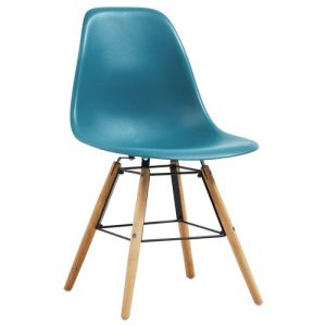 Norden Home Dining Chairs 6 Pcs Blue Plastic Norden Home Colour: Turquoise