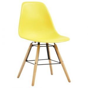 Norden Home Dining Chairs 6 Pcs Blue Plastic Norden Home Colour: Yellow