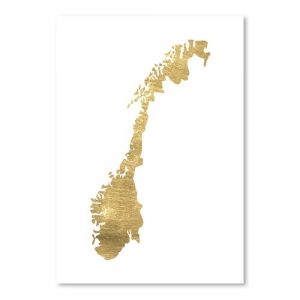 Norway by Pop Monica - Unframed Graphic Art Print on Paper East Urban Home Size: 61cm H x 46cm W