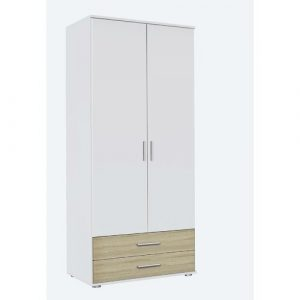 Olpe-Extra 2 Door Wardrobe Rauch Colour: Light Brown