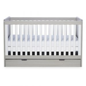 Pembrey Ickle Bubba Cot Bed And Under Drawer Ickle Bubba Colour: Grey/White
