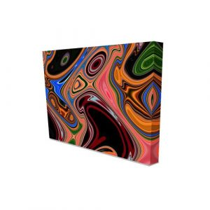 'Psychedelic' Graphic Art on Canvas East Urban Home Size: 152 cm H x 101 cm W