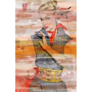Red Scarf Graphic Art Wrapped on Canvas East Urban Home Size: 152cm H x 101cm W