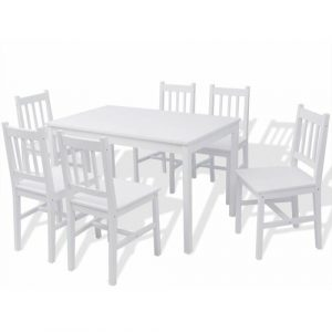 Rhinelander Dining Set with 6 Chairs Marlow Home Co.