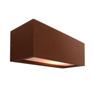 Rilongo 1-Light LED Outdoor Sconce Deko Light Shade Colour: Brown