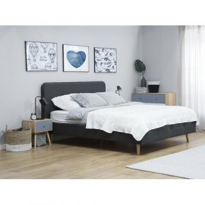 Rochelle Upholstered Bed Frame Mikado Living Size: European Double (140 x 200 cm), Colour: Grey