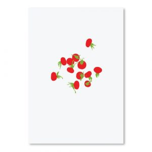 Rose Hips by Jorey Hurley - Unframed Graphic Art Print on Paper East Urban Home Size: 41cm H x 30cm W