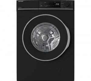 SHARP ES-NFB8141BD 8 kg 1330 Spin Washing Machine - Black, Black