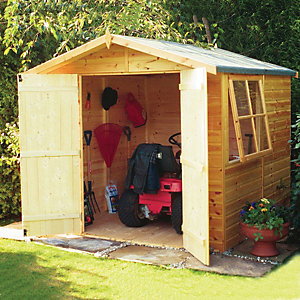 Shire 7 x 7ft Double Door Timber Shiplap Apex Shed