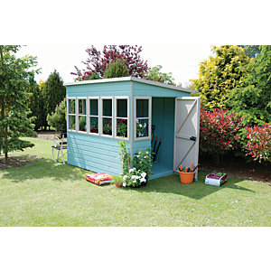 Shire 8 x 6ft Timber Pent Potting Shed