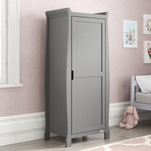 Stamford 1 Door Wardrobe Obaby Colour: Taupe Grey