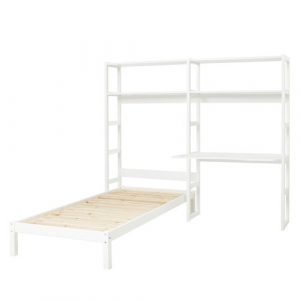 Storey Bed Frame with Bookcase and Desk Hoppekids Size: European Single (90 x 200cm)
