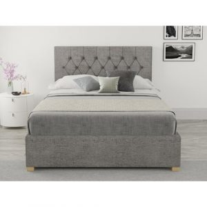 Swanley Upholstered Ottoman Bed Fernleaf Colour: Silver, Size: Small Double (4')
