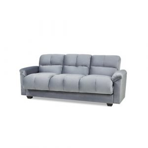 Tana Sofa Bed With Fold Down Table And Storage In Beige Fabric Leader Lifestyle Upholstery Colour: Medium Grey