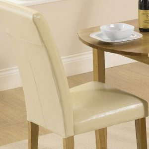 Thaddeus Folding Dining Set with 4 Chairs ClassicLiving Colour (Chair): Cream