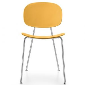 Tondina Dining Chair Infiniti Frame Colour: Peach, Leg Colour: Chrome