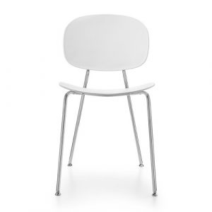 Tondina Dining Chair Infiniti Frame Colour: White, Leg Colour: Chrome