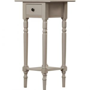 Toulouse Side Table with Storage Fleur De Lis Living Colour: Vintage Grey