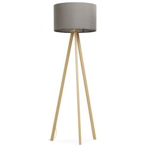 Trivet 159cm Tripod Floor Lamp Mikado Living Shade Colour: Grey