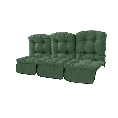 Tufted 3 Seater Garden Sofa Cushion Dakota Fields Colour: Green
