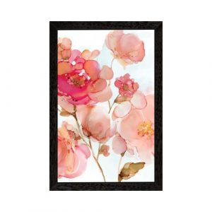 Vivid Peonies by Carol Robinson - Graphic Art Print on Canvas East Urban Home Size: 101.6cm H x 66.04cm W x 3.81cm D, Frame Option: Black Framed